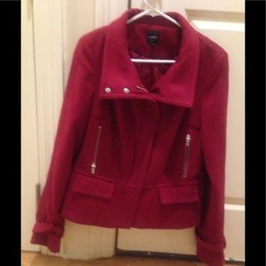 Express Red Coat Sz L